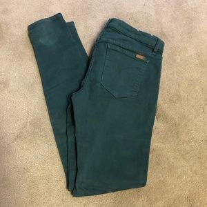 Joe's Jeans High Rise Skinny - W 30 - Dark Green